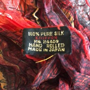 Vintage silk chiffon scarf made in Japan